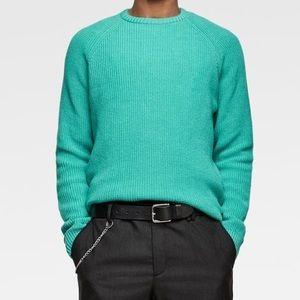 New Zara turquoise sweater